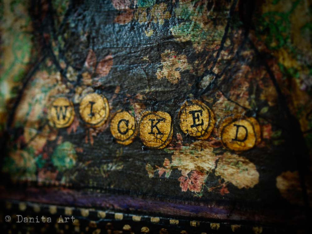 Wicked, Original Art by Danita Art