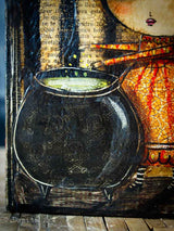 Lots of details go into each one of Danita's paintings. Just look at the skulls on the cauldron :)