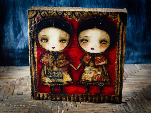 A couple of friends with a very dark secret, by Danita Art