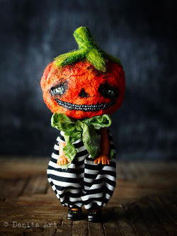 Jack the Halloween Pumpkin King, an original art doll from Danita's dark series, Darknita Art