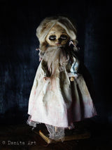 A beautifully detailed horror handmade art doll by Darknita, the dark side of Danita Art