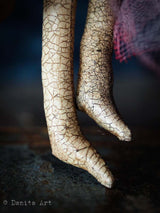 The feet on this Darknita Art handmade and undead doll have a beautiful texture.