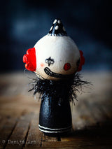 Evil clown, Art Doll by Danita Art