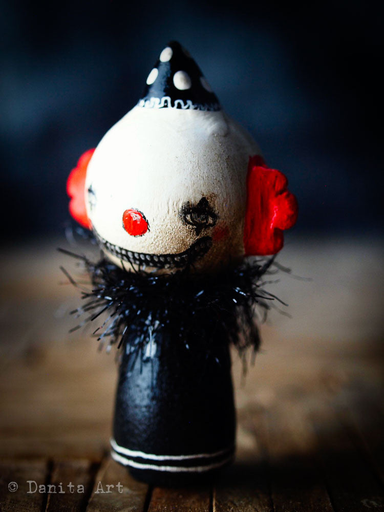 Evil clown, Miniature Dolls by Danita Art