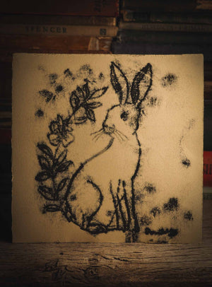 THE HARE, an original ink monoprint on printmaking paper by Idania Salcido (Danita Art) measures 7 x 7 inches, ready to be mounted on your favorite frame! Hares are another of my favorite animals. They are so slender and look so delicate but they are tough to survive in the desert. And I love they free spirit, as they come and go as they please.