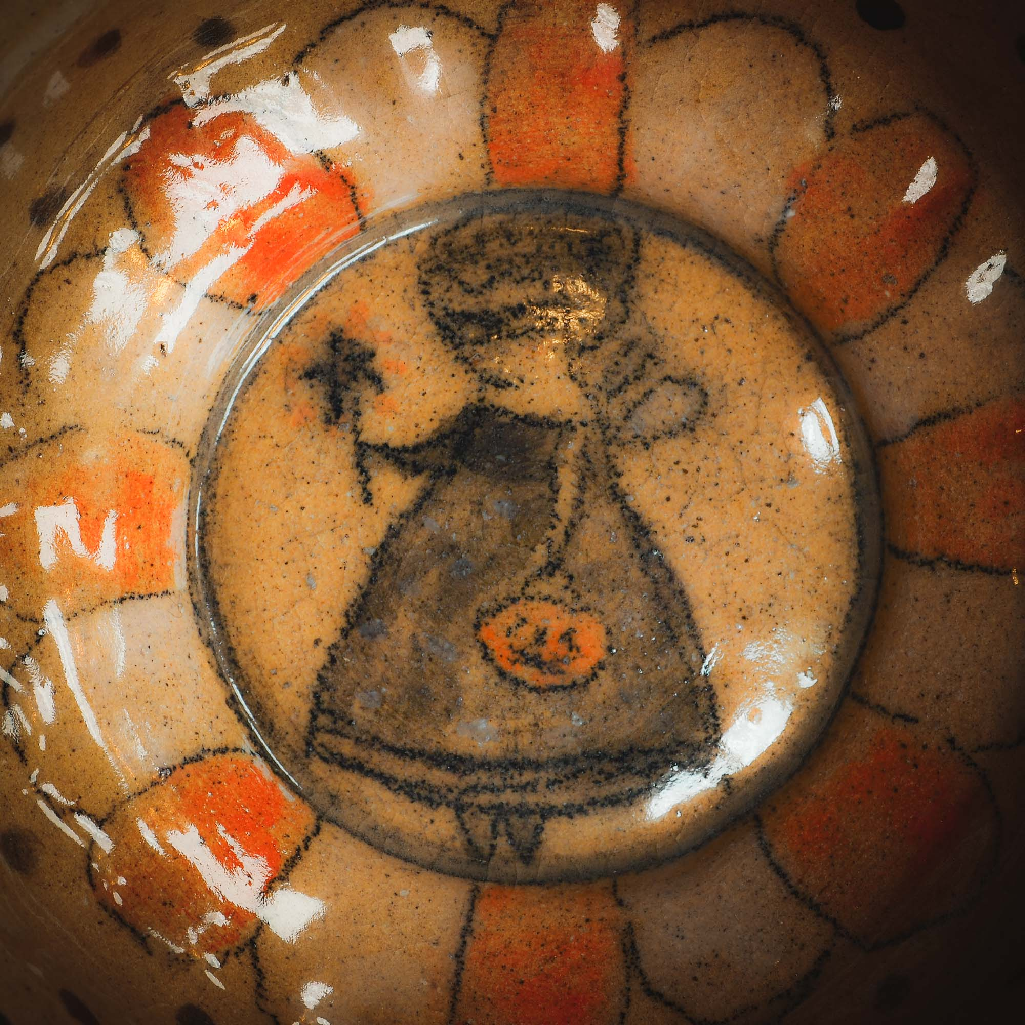 This original handmade Halloween themed glazed ceramic bowl by Idania Salcido, the artist behind Danita Art, features a little Halloween Fairy witch girl is ready to go trick-or-treat on the best holiday of the year. Halloween! You can enjoy your favorite fruits and nuts in it, or maybe a little ice cream ball. Or you can use it to enjoy the candy treasure after going door to door.