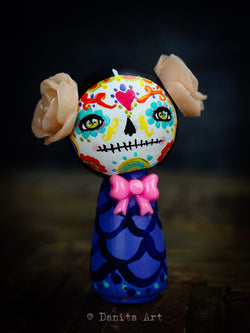 Catrina In Purple, Art Doll by Danita Art