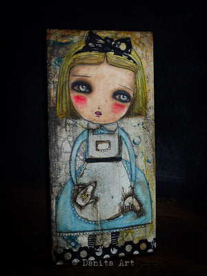 Alice, the teapot and the white rabbit, Original Art by Danita Art