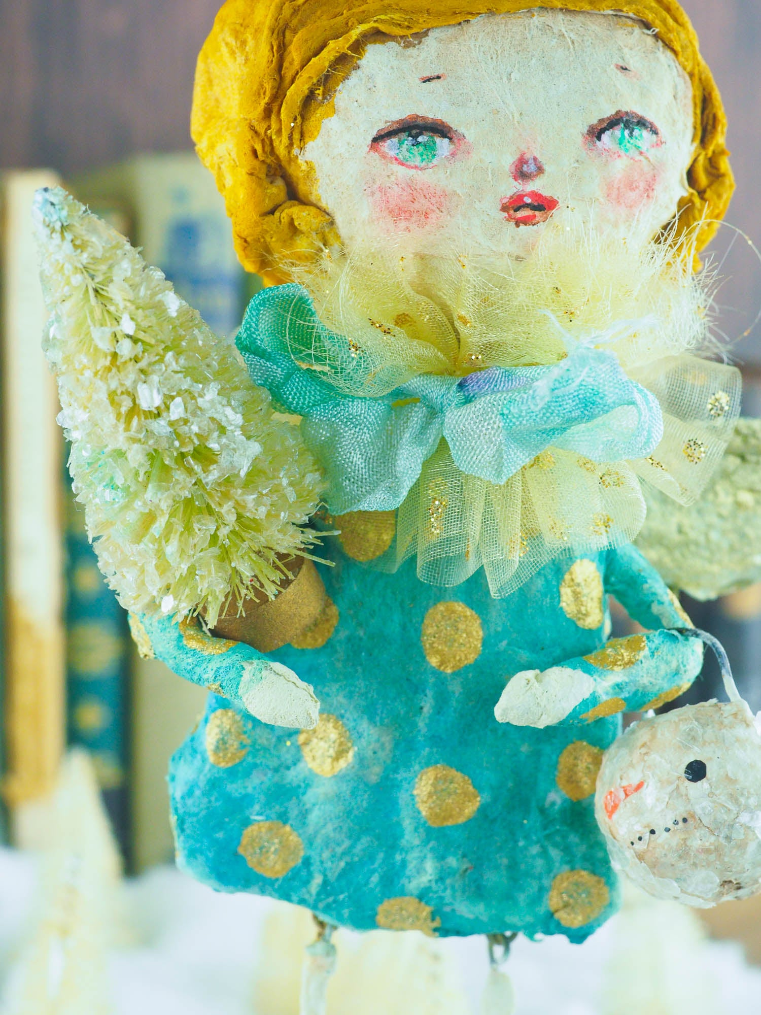 LISA, THE HOLIDAY ANGEL, Art Doll by Danita Art