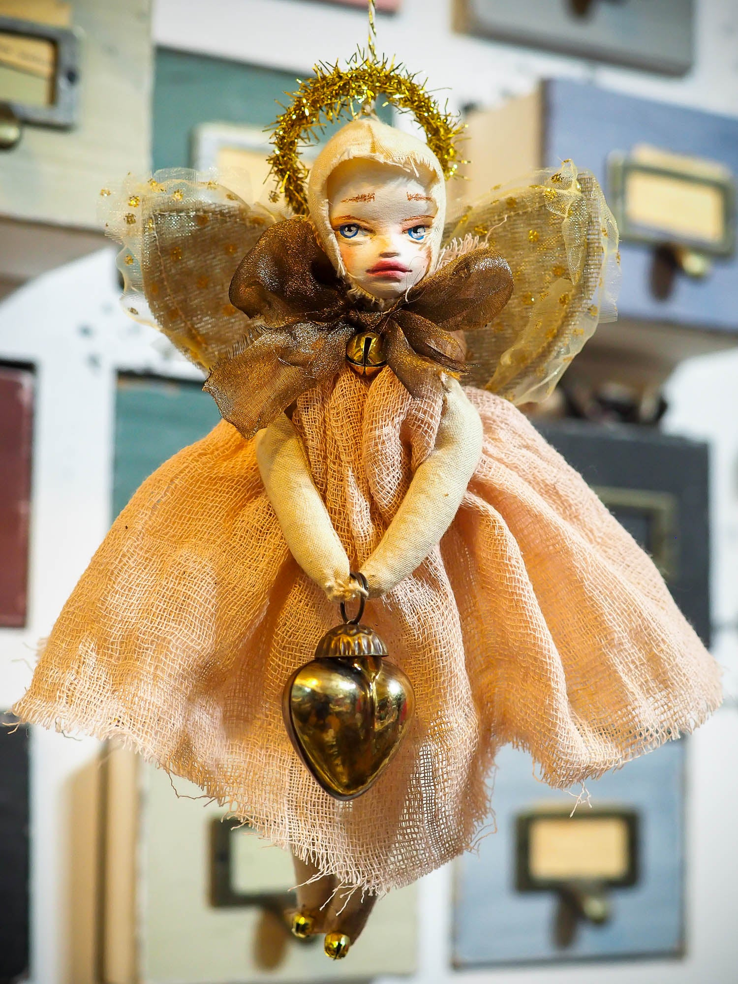GABRIELLE - An angel ornament for your Christmas tree by Danita Art, Art Doll by Danita Art