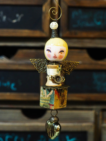 ANGEL No. 3 - An original handmade Christmas tree ornament by Danita