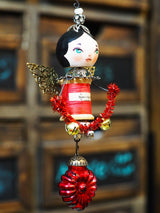 ANGEL No. 5 - An original handmade Christmas tree ornament by Danita