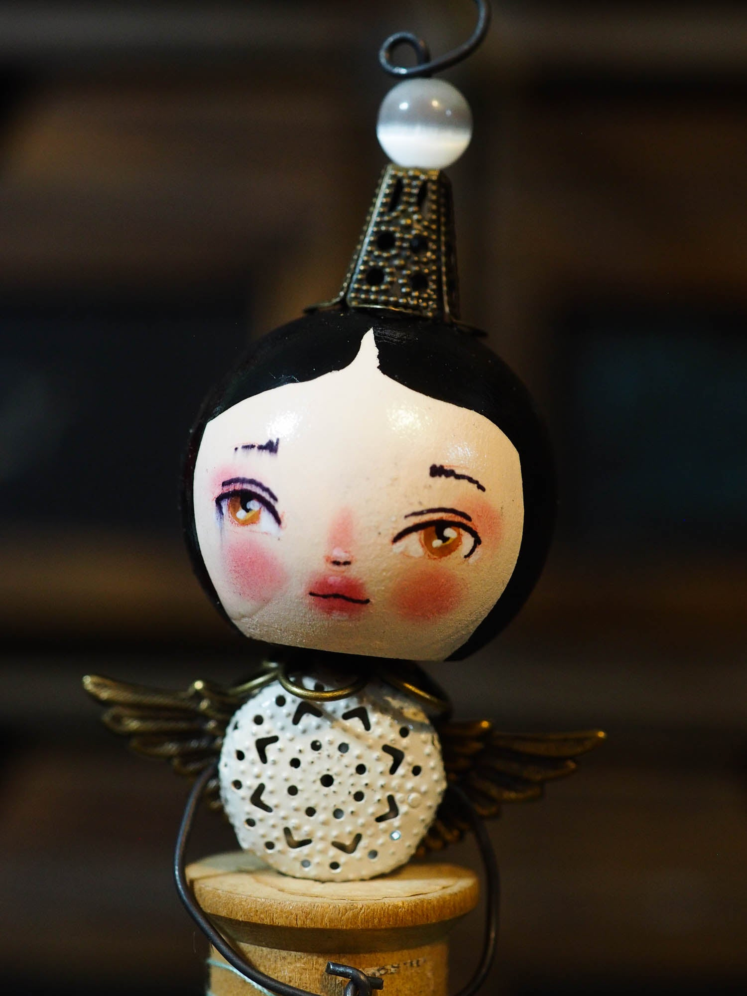 ANGEL No. 6 - An original handmade Christmas tree ornament by Danita, Original Art by Danita Art