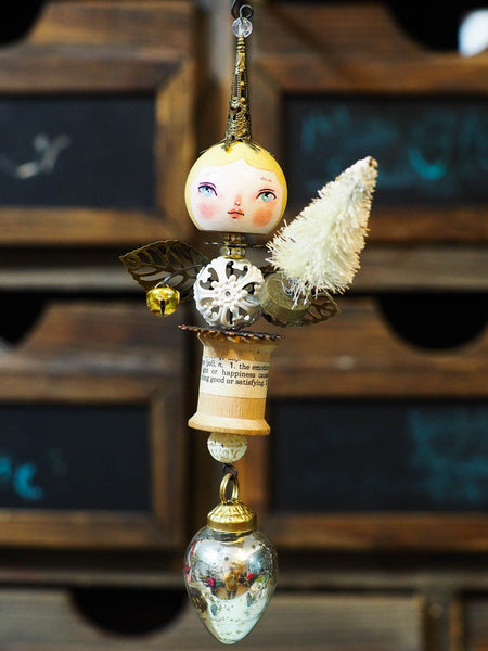 ANGEL No. 7 - An original handmade Christmas tree ornament by Danita
