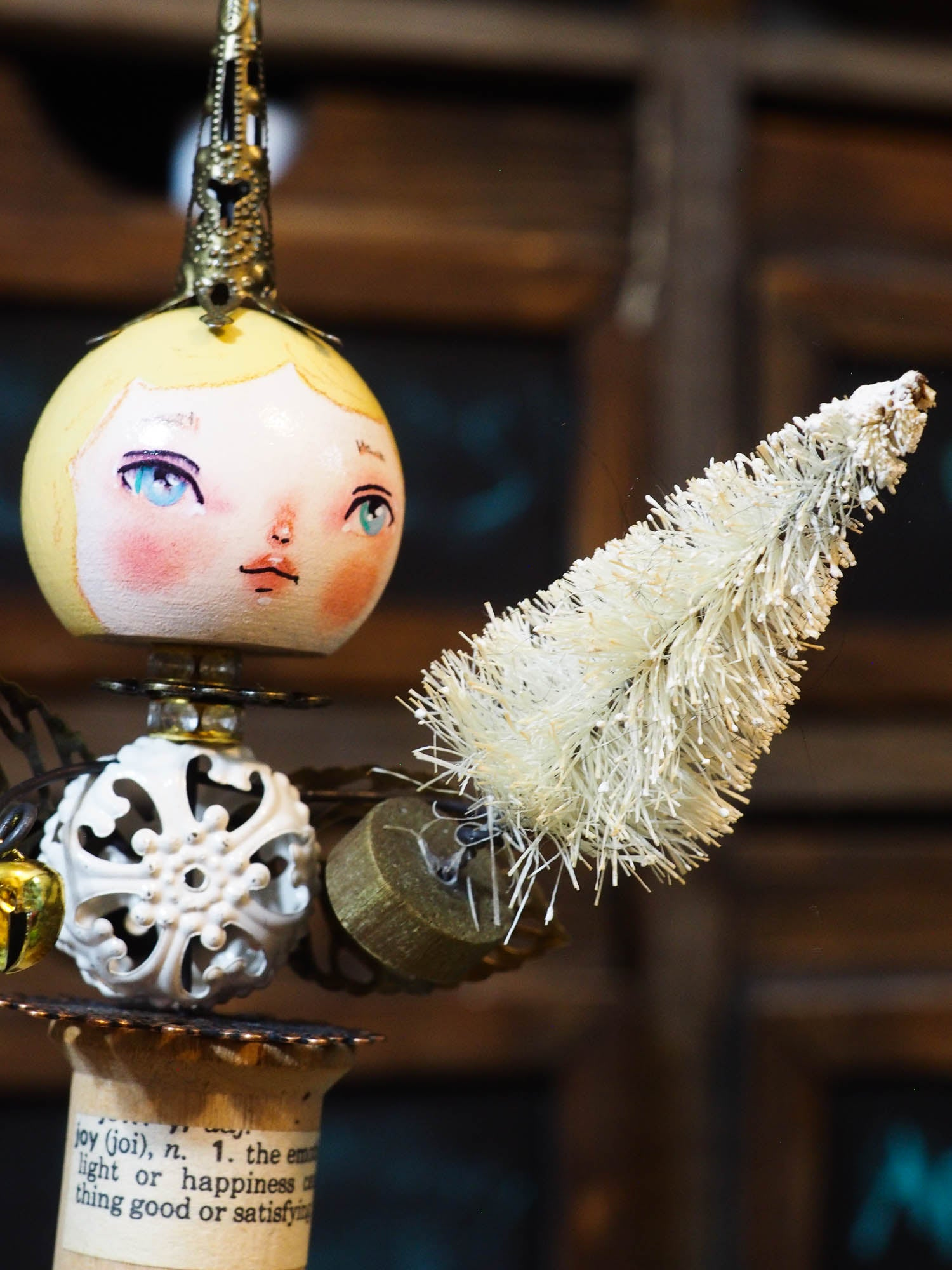 ANGEL No. 7 - An original handmade Christmas tree ornament by Danita, Original Art by Danita Art