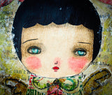 Danita's mixed media paintings are instantly recognizable by their lovely eyes