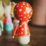 MISHA - An original handmade wooden kokeshi art doll by Danita