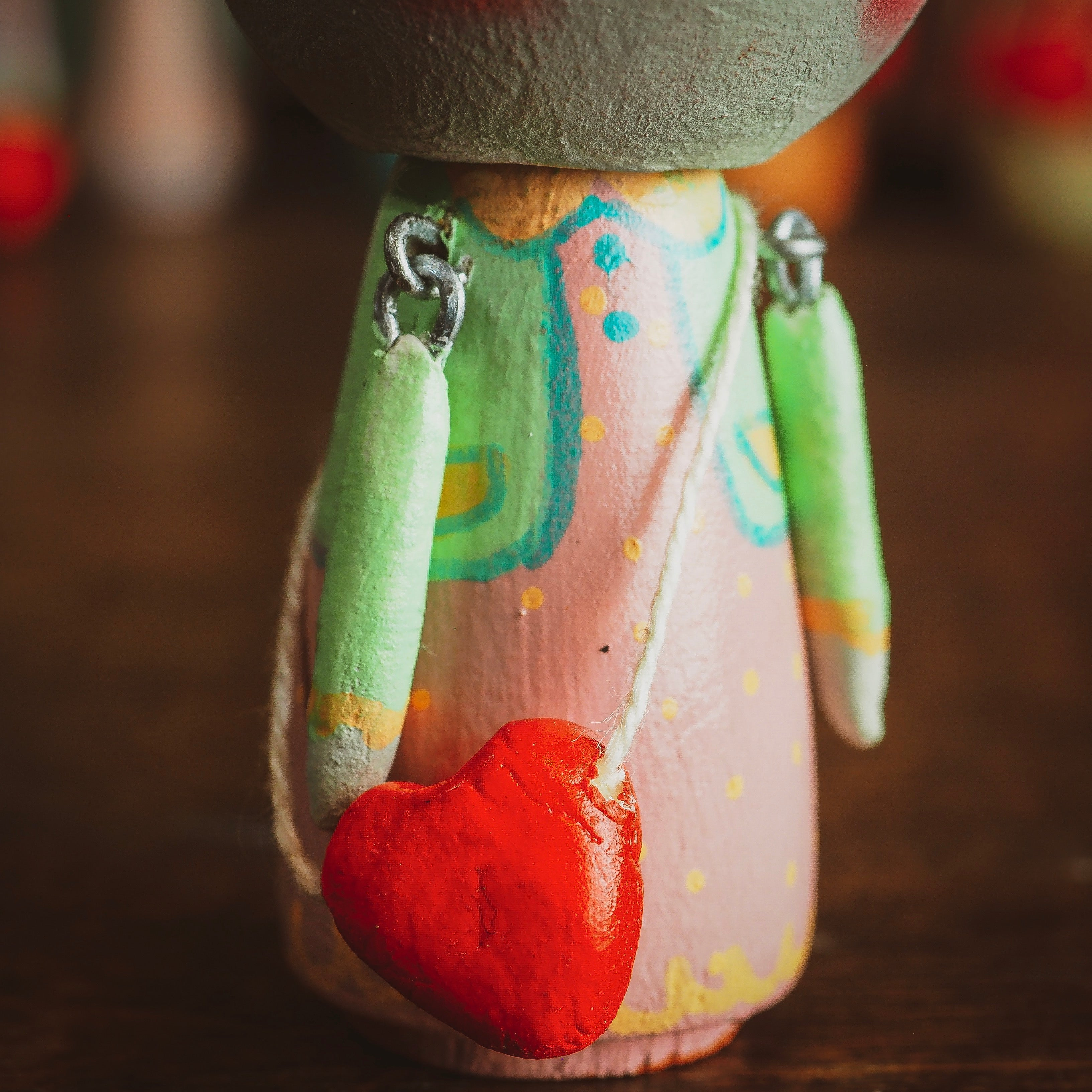 JOCELYN - An original handmade wooden kokeshi art doll by Danita, Miniature Dolls by Danita Art