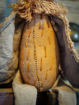 THE OWL - An original handmade doll by Danita Art, made with original patterns, organic fabric dyed using only natural ingredients like avocado peels, walnuts and marigolds. Each mini art doll in this toy collection is a mini work of huggable fabric art to be treasured by any collector of Danita's melancholic and fantastic work.