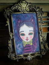 The cheshire cat from Alice in Wonderland inspired this watercolor painting by Danita Art