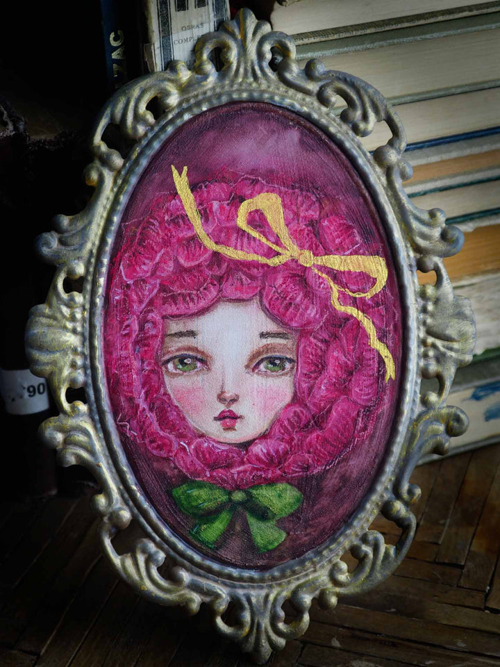 Danita pink rose cosplay watercolor painting little prince alice in wonderland garden