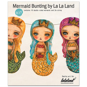 Banner DIY Kit: The mermaids of summer, HOME by Danita Art