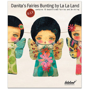 Banner DIY Kit: The faeries of spring, Home by Danita Art