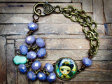 Frida is strong on this beautiful mixed media handmade bracelet by Danita Art