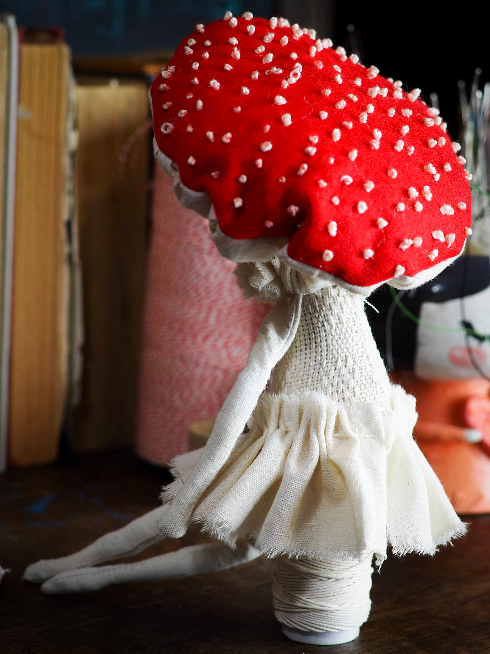 MUSHROOM SPECIMEN N. 3 - Original woodlands handmade art doll by Danita Art, Art Doll by Danita Art