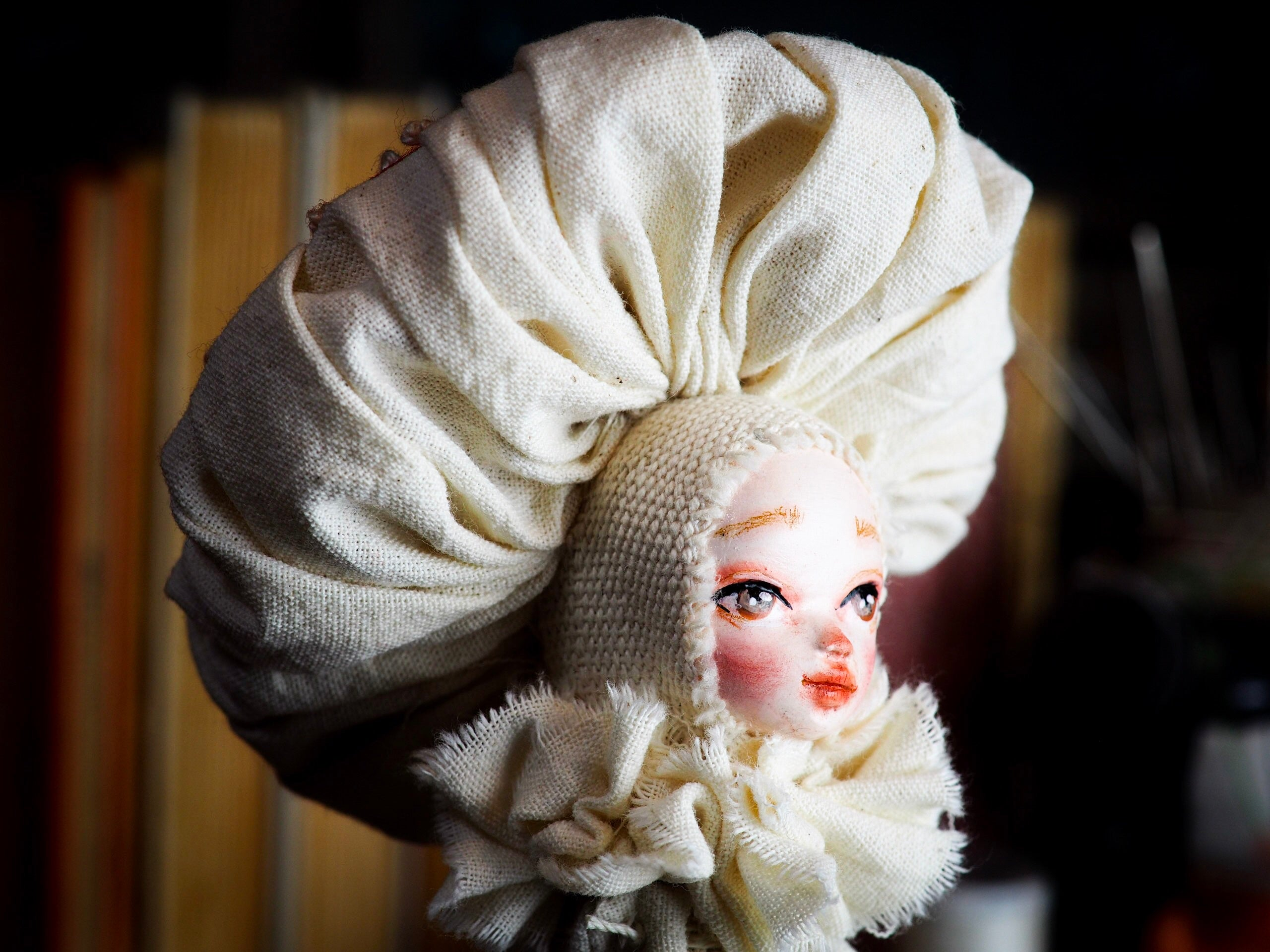MUSHROOM SPECIMEN N. 9, Art Doll by Danita Art