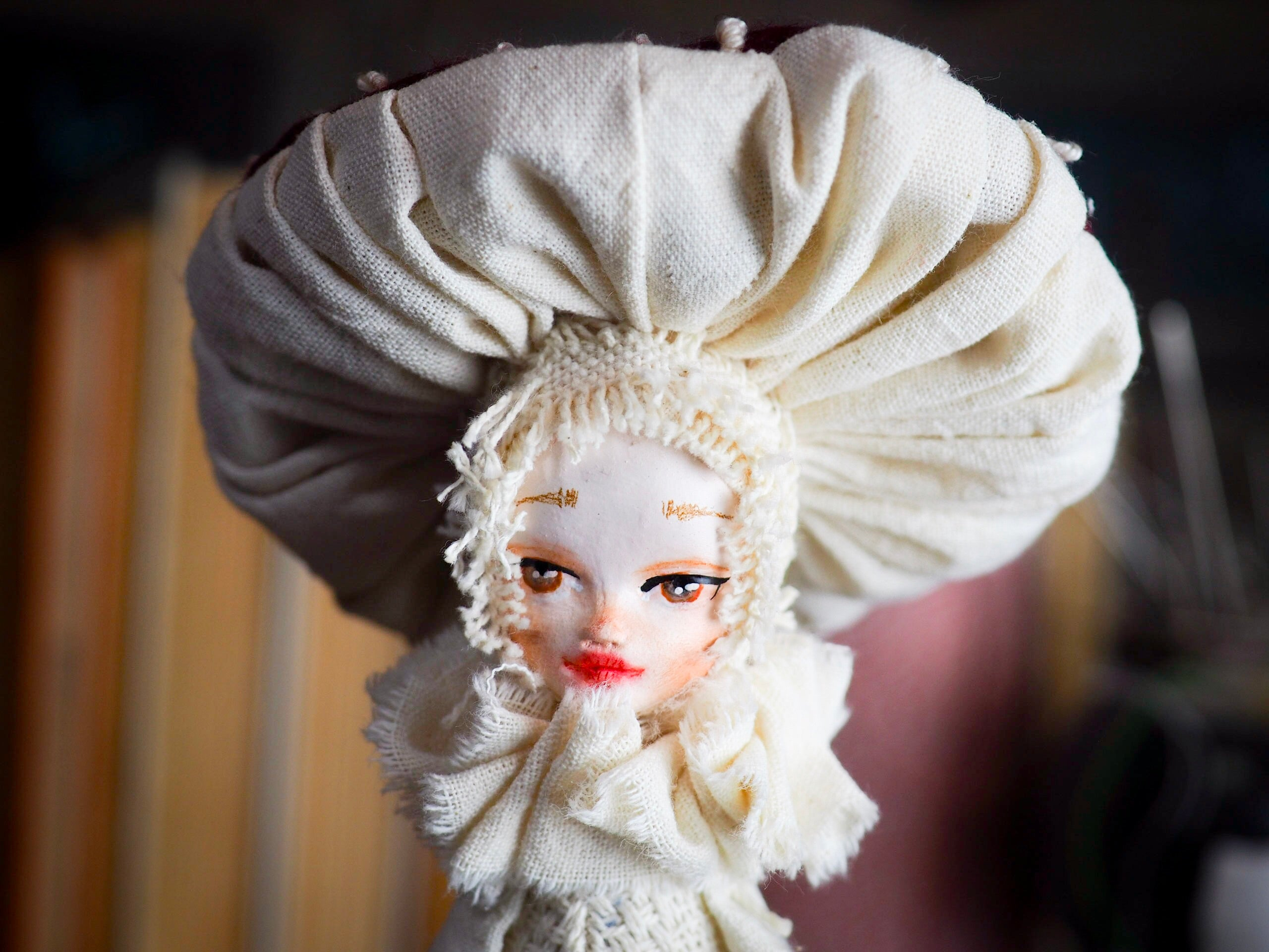 MUSHROOM SPECIMEN N. 6 - Original woodlands handmade art doll by Danita Art, Art Doll by Danita Art
