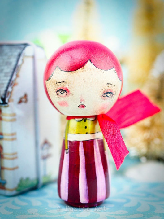 An original Kokeshi art doll by Danita Art