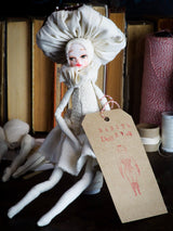 MUSHROOM SPECIMEN N. 7 - Original woodlands handmade art doll by Danita Art