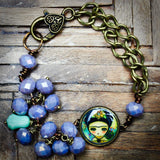Frida and the skull, Jewelry by Danita Art