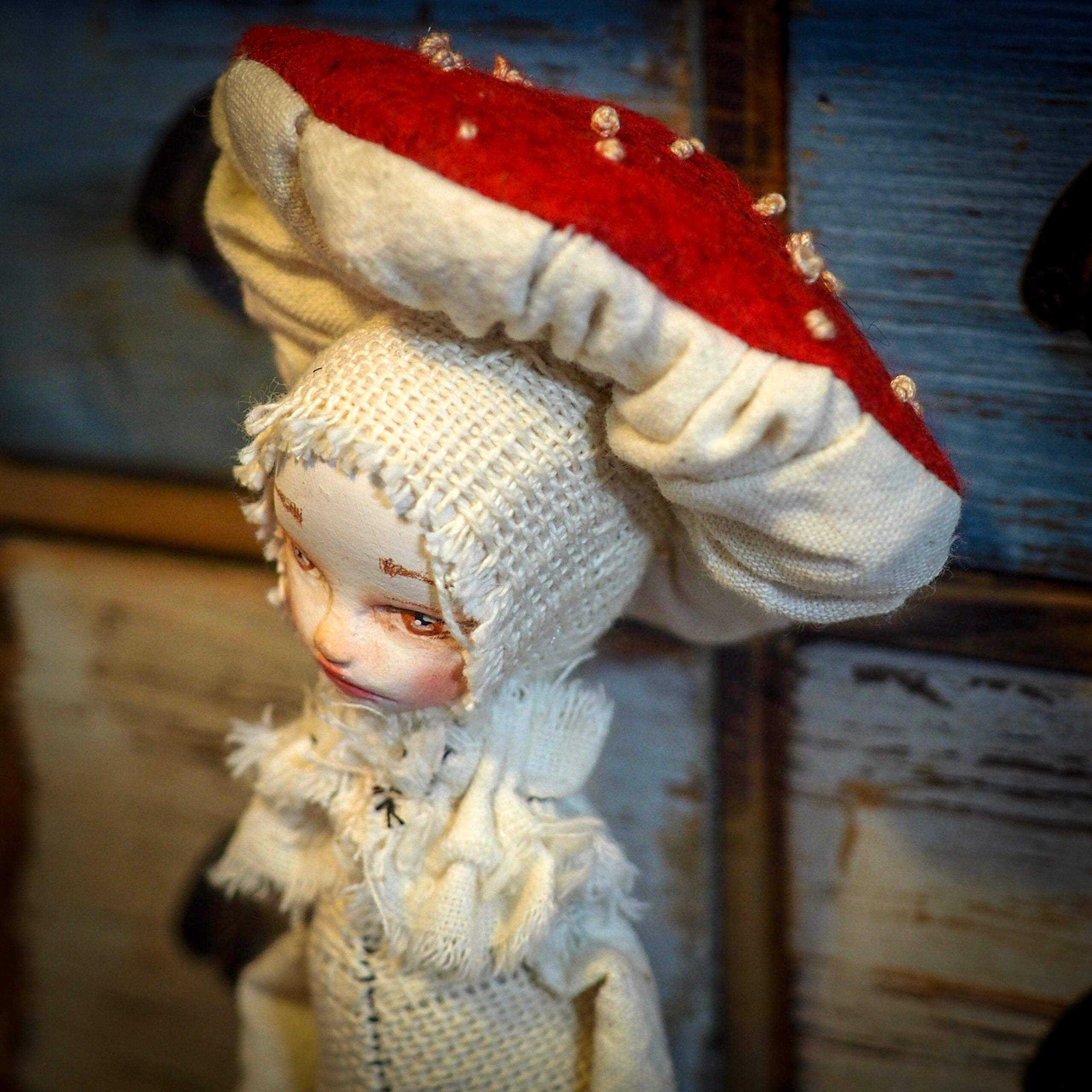 ADVANCED ORDER FOR THE WOODLAND MUSHROOM COLLECTION - Original woodlands handmade art doll by Danita Art, Art Doll by Danita Art