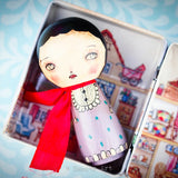 You can store this beautiful Kokeshi art doll in her own house.