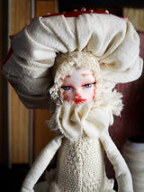MUSHROOM SPECIMEN N. 1 - Original woodlands handmade art doll by Danita Art