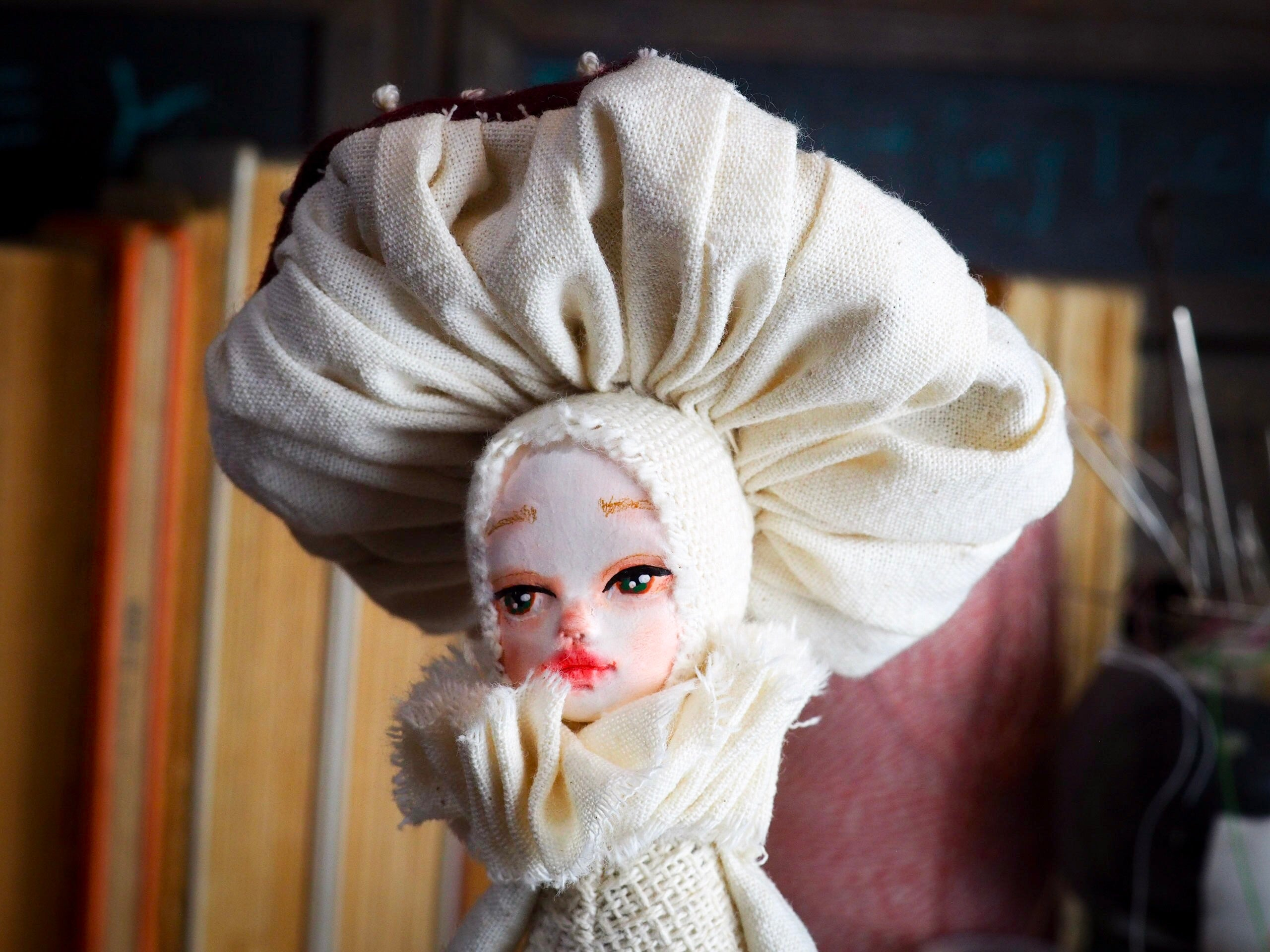 MUSHROOM SPECIMEN N. 7 - Original woodlands handmade art doll by Danita Art, Art Doll by Danita Art