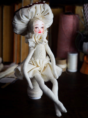MUSHROOM SPECIMEN N. 5 - Original woodlands handmade art doll by Danita Art, Art Doll by Danita Art