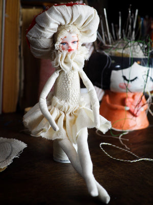 MUSHROOM SPECIMEN N. 1 - Original woodlands handmade art doll by Danita Art, Art Doll by Danita Art