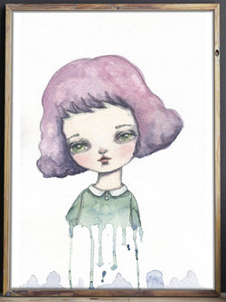 An original painting by Danita Art, this delicate watercolor expresses the feeling of fading that you may feel sometimes, but fear not. Love will keep you from fading away.