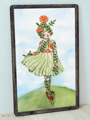 LITTLE MISS NATURE, Discontinued Art Prints by Danita Art