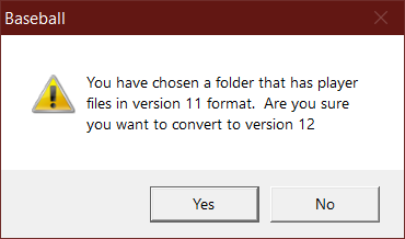 Prompt to convert version