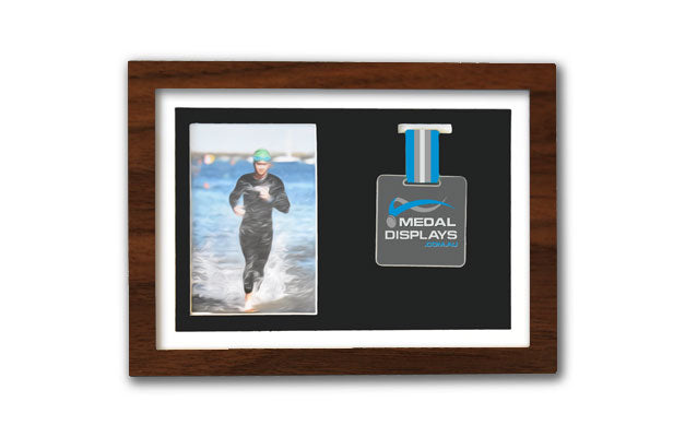 Medal & Photo Frame (Walnut)