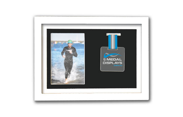Medal & Photo Frame (White)
