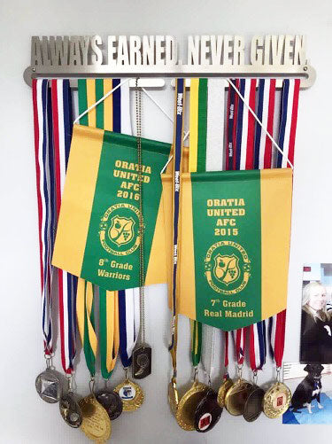 Always Earned Never Given Medal Display Hanger