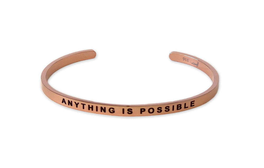 Anything is Possible Bracelet - Rose Gold / Stainless Steel