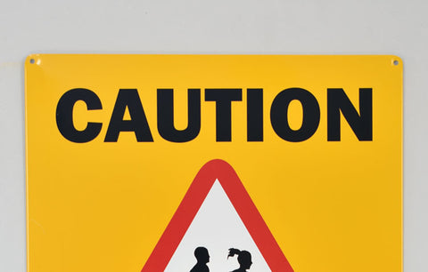 Metal Wall Sign - Caution: Runners™