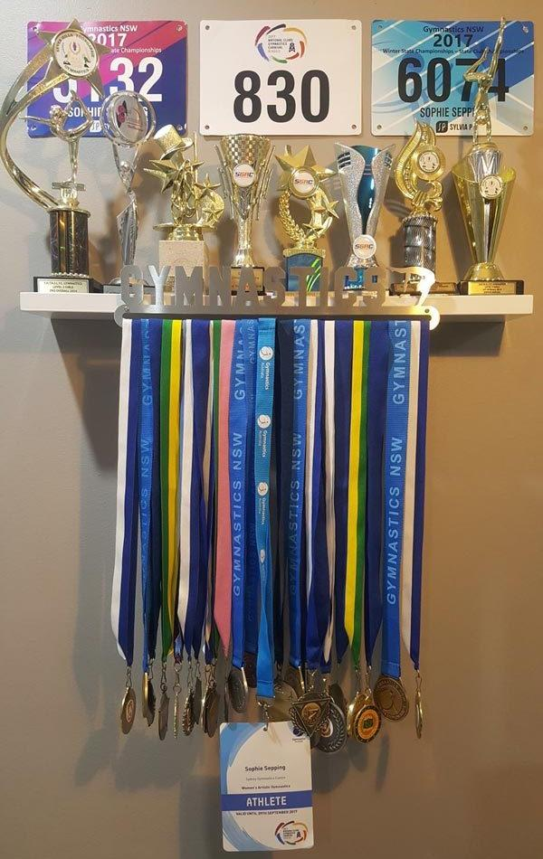 Gymnastics Medal Display Hanger