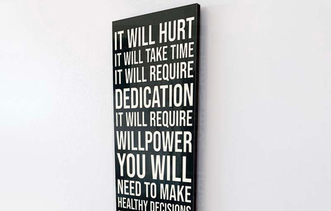 Wood Wall Sign - It Will Hurt (Black)